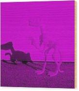Dino Purple... Barney Wood Print