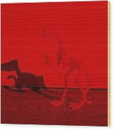 Dino Red Wood Print