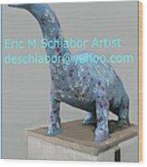 Dino The Bayville Dinosaur Wood Print