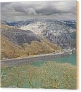 Dinorwig Quarry Lake Wood Print