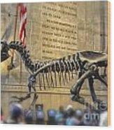 Dinosaur At The Natural History Museum Wood Print