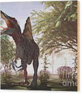 Dinosaur Spinosaurus Wood Print