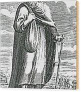 Diogenes Of Sinope, Ancient Greek Wood Print
