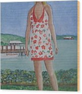 Diosa Del Mar Wood Print