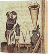Dioscorides, Pedanius 40-c.70. Greek Wood Print