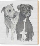 Dippy And Muggs Wood Print