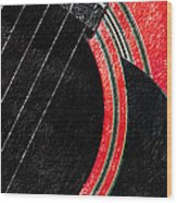 Diptych Wall Art - Macro - Red Section 2 Of 2 - Giants Colors Music - Abstract Wood Print