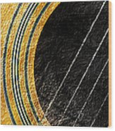Diptych Wall Art - Macro - Gold Section 1 Of 2 - Vikings Colors - Music - Abstract Wood Print