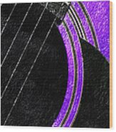 Diptych Wall Art - Macro - Purple Section 2 Of 2 - Vikings Colors - Music - Abstract Wood Print