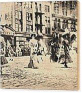 Directoire Gown - Philadelphia Mummers 1909 Wood Print