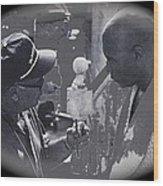 Director Martin Ritt And James Earl Jones Number 2 The Great White Hope Set Globe Arizona 1969-2013 Wood Print