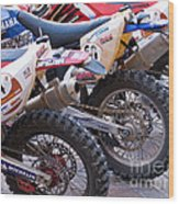 Dirt Bikes Wood Print by Rick Piper Photography