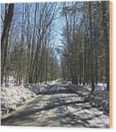 Dirt Road In March Wood Print