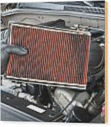 Dirty Air Filter Wood Print by Joe Belanger