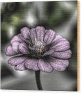 Dirty Flowers 3 Wood Print