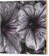 Dirty Flowers 4 Wood Print