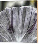 Dirty Flowers Wood Print