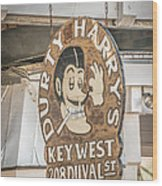 Dirty Harry's Key West - Hdr Style Wood Print