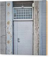 Dirty Metal Door Wood Print