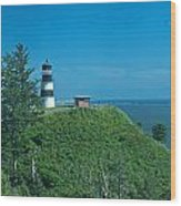 Disappointment Lighthouse In Washington State Wood Print