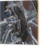 Disc Brakes Hot Rod Wood Print