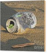 Discarded Energy Drink Can Wood Print