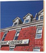 Discount Liquor Store Wood Print