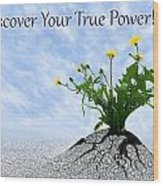 Discover Your True Power Wood Print