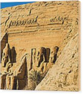 Discovering The Nubian Monuments Of Ramses II Wood Print