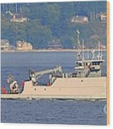 Discovery Bay Military Ops Ship Wood Print