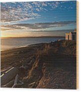Discovery Park Lighthouse Sunset Wood Print