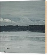 Discovery Passage Fog Rising Wood Print