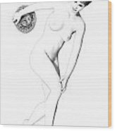 Discus Thrower Exquisite Wood Print