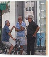 Discussing It In Maiori Italy Wood Print