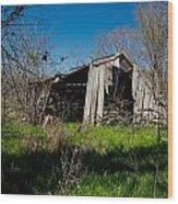 Disintegrating Barn Streetman Texas Wood Print