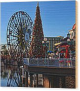 Disney California Adventure Christmas Wood Print