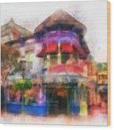 Disney Clothiers Main Street Disneyland Photo Art 01 Wood Print