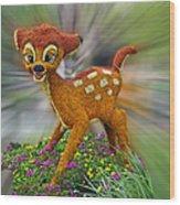 Disney Floral Bambi Wood Print