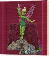 Disney Floral Tinker Bell 02 Wood Print