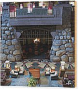 Disneyland Grand Californian Hotel Fireplace 01 Wood Print