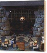 Disneyland Grand Californian Hotel Fireplace 02 Wood Print