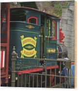 Disneyland Rr Oiling Green Engine 3 Wood Print