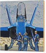 Display Debrief- Blue Angels Wood Print
