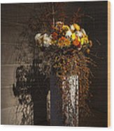 Displaying Mother Nature's Autumn Abundance Of Flowers And Colors Wood Print