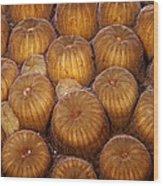 Macro Abstract Of Coral Wood Print