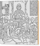 Dissection Lesson, 1493 Wood Print