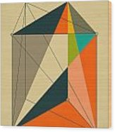 Dissection Of The Triangular Prism Into 3 Pyramids Of Equal Volume Wood Print