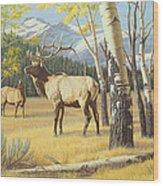 Distant Bugle Wood Print
