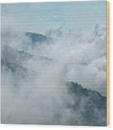 Distant Canyons - Blue Ridge Parkway Wood Print