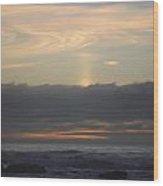 Distant Cloud Swirl Wood Print